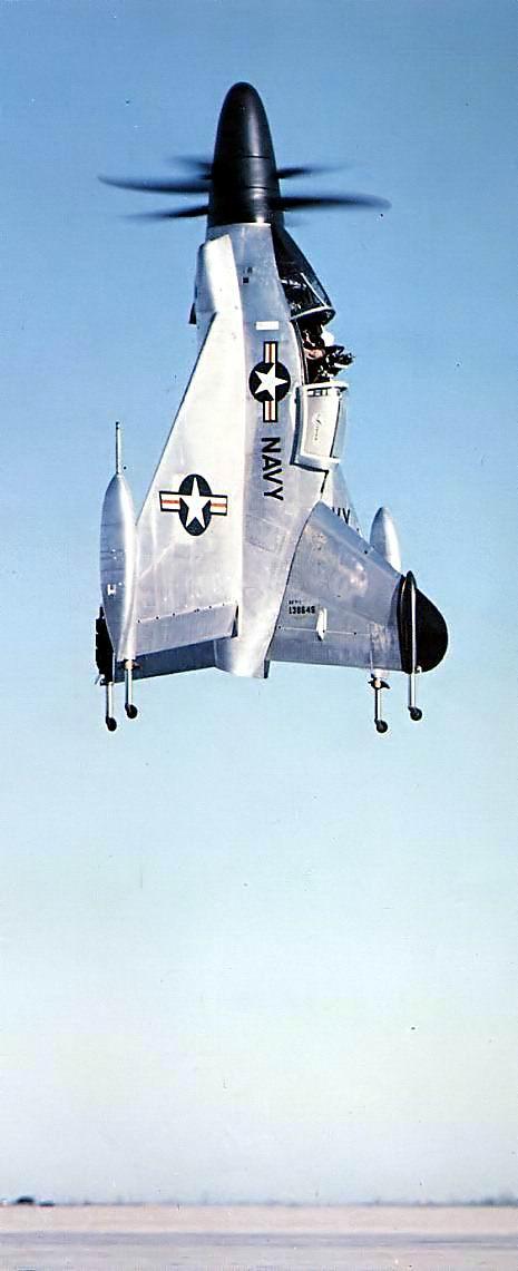 Le XFY-1 en vol stationnaire